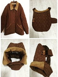 kabát barna